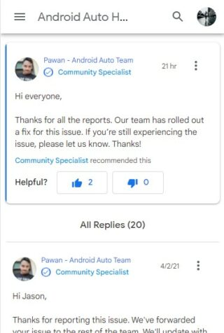 android auto weather issue fixed