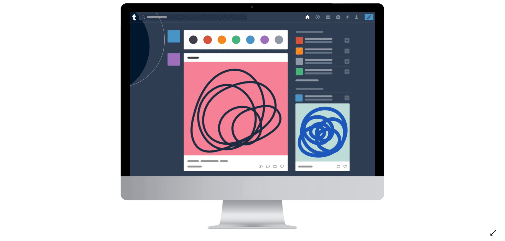 [Updated] Tumblr gets a facelift - new dashboard colors update where 'blue is darker, grays are lighter'