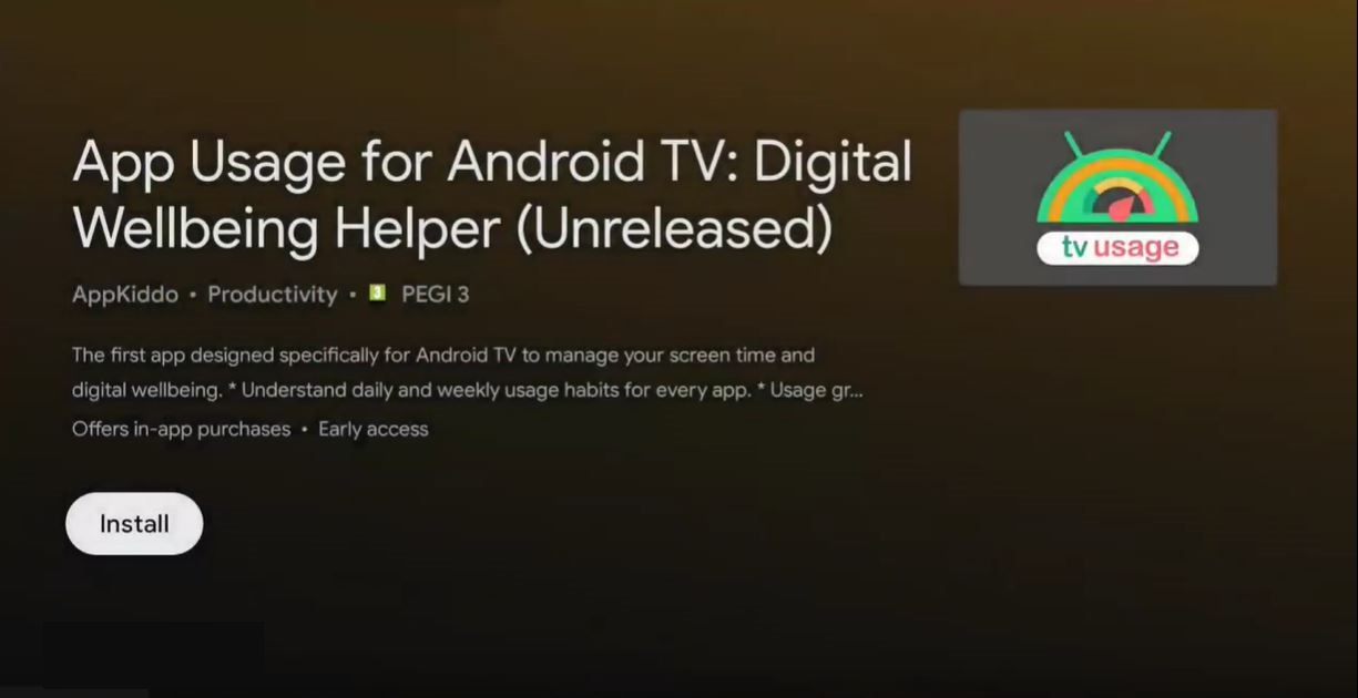 [Update: New version available] Want Digital Wellbeing for your Android TV? Check this app out