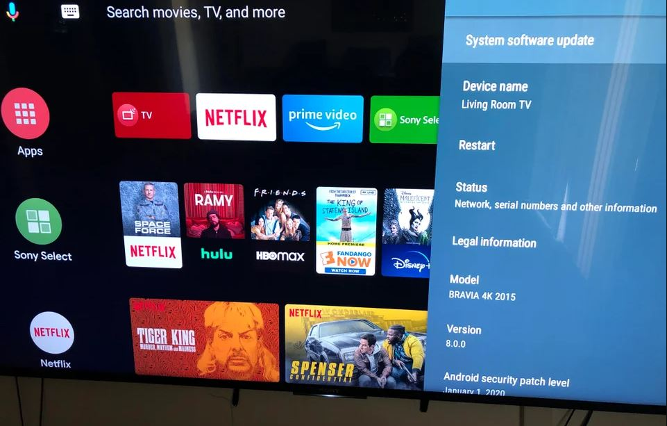 Sony Bravia 2015 Android TV 8.0 update with January 2020 security patch arrives