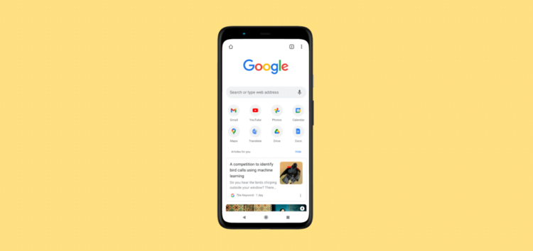Google Chrome Tab Group on Android testing option to open links in new tab without creating a group from long-press menu