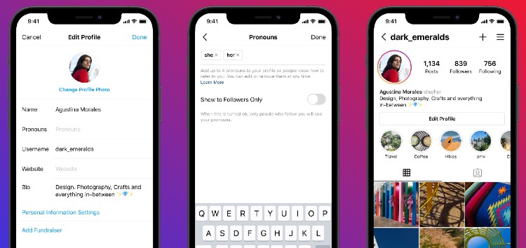 Here's how to add pronouns to Instagram bio/profile (video inside)