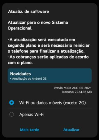 LG G8X Android 11 Brazil