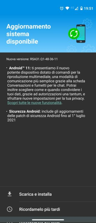 moto one action android 11 italy